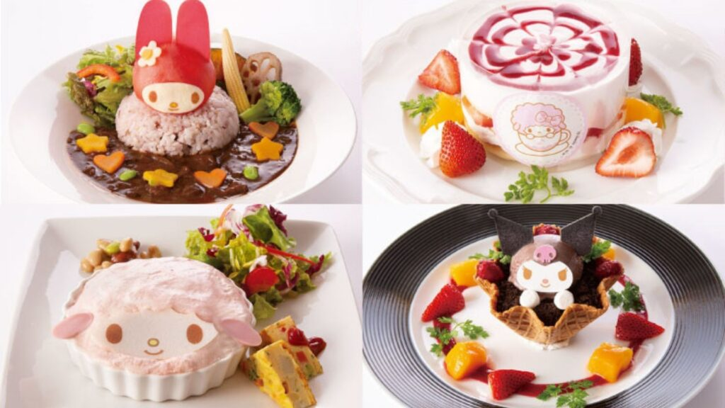Find Kawaii Collaboration Cafes in Tokyo My Melody Cafe desserts