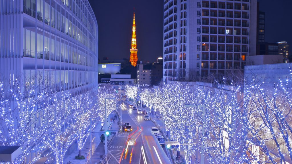 christmas decorations and illuminations in japan