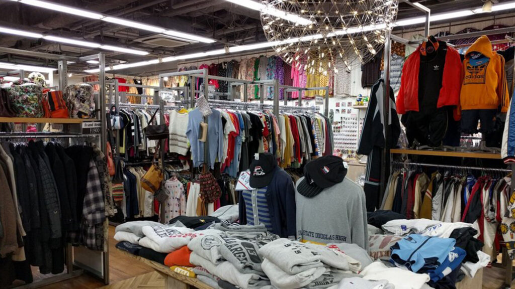Thrift shop second hand shopping in Tokyo
