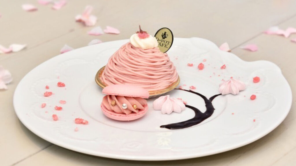 Spring has Sprung, how to enjoy Spring in Tokyo, 2020 Q-pot CAFE, Pink Cherry Mont Blanc Plate Cherry blossom sakura edition