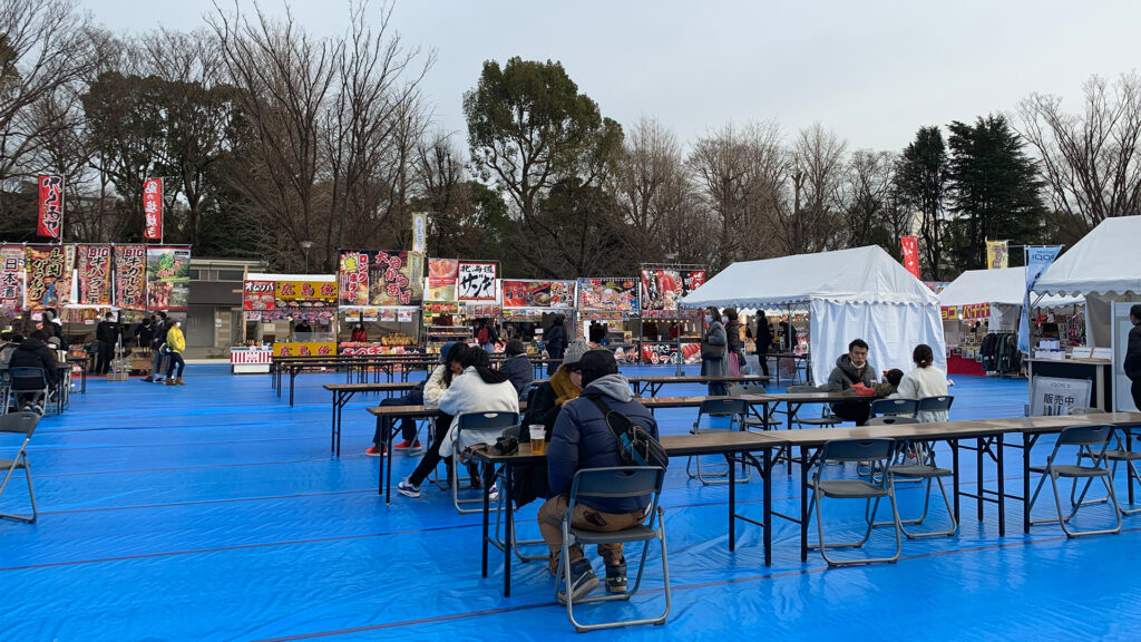 Ueno Park day drinking during event and festival