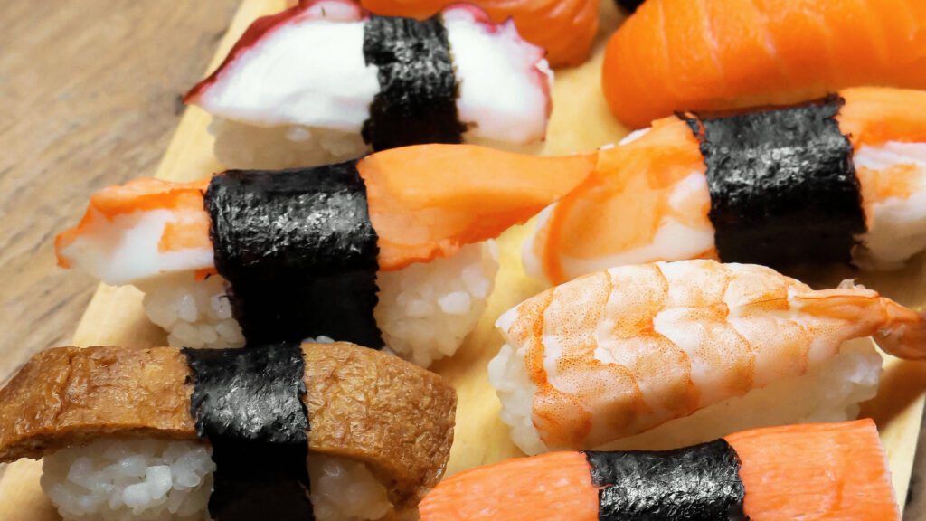 Japanese things you can do during lockdown, Japanese food and drinks Sushi