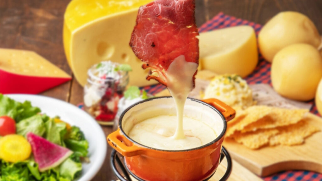 The best places and everything about all-you-can-eat, Tabehoudai in Japan cheese fondue raw beef