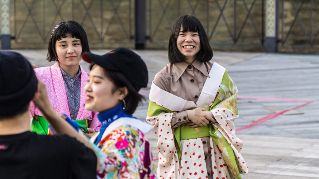 Cheating in Japan Japanese women smiling at the camera