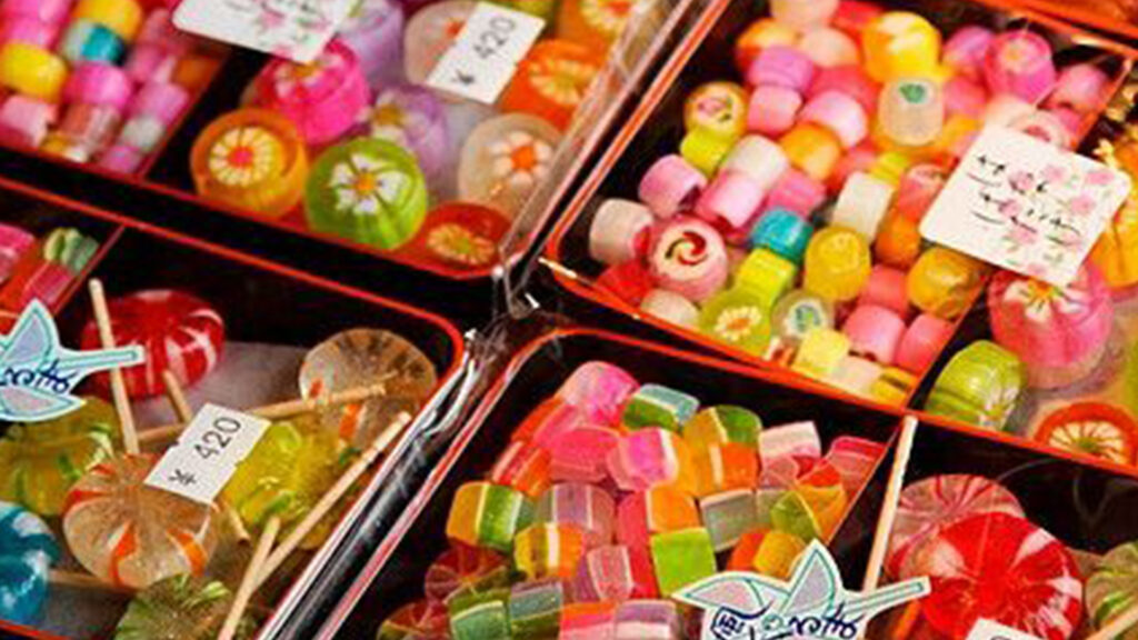 Japanese candy as souvenirs